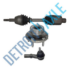 Front Driver CV Axle Shaft + NEW Tie Rod End and Wheel Hub and Bearing Assembly