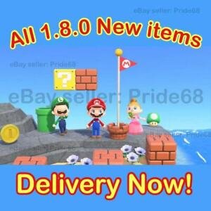 Super Mario Update - 1.8 ALL Items Animal Crossing:New Horizons, Delivery now!!
