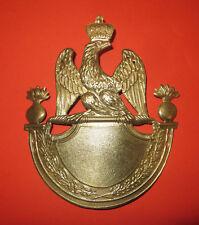 Cuivrerie:Plaque shako 1812 Tr. Grenadier,1er Empire.Napoléon,choix du chiffre