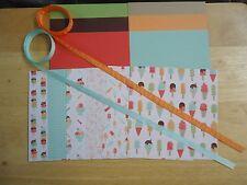 Stampin Up TASTY TREATS 6 x 6 Specialty Designer Paper Card Kit Ribbon