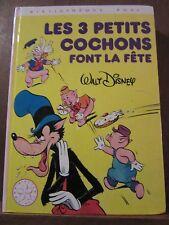 Walt Disney: Les 3 petits cochons font la fête / Bibliothèque Rose, 1982