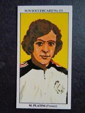 The Sun Soccercards 1978-79 - Michel Platini - France #151