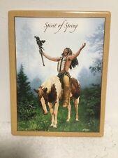 Indian Chief Picture Tile Wall Art Bradford Exchange 2005 Chuck Ren Deliverance
