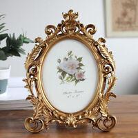 Antique Retro Picture Frame Photo Holder Crafts Ornate Oval Arts Frames