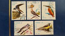LAOS STAMPS BIRDS 1982  MINR 541/545