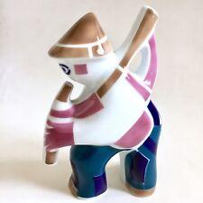 Sargadelos Musician Bagpipes Player Spain Hand Made Porcelain Art Figurine Mint