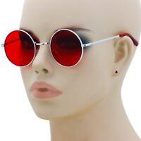 Colorful Women Retro Round Glasses Lens Sunglasses Eyewear Metal Frame Glasses