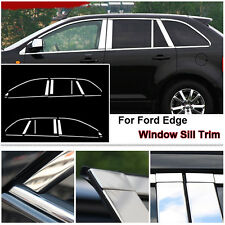 Full Window Middle Pillar Molding Sill Trim Stainless Steel For Ford Edge