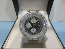 Breitling Men's Navitimer A13330 Fighter Chronograph Date CUSTOM DIAMONDS Watch