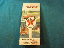 Vtg 1964 TEXACO Oil Service Filling Station QUEBEC Canada Advertisement Road Map