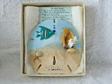 Collectible Large Sand Dollar Decorated Shell With Legend Of The Sand Dollar