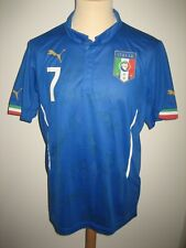Italy MATCH WORN Italia #7 SIGNED football shirt soccer jersey maglia size L