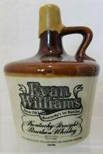 Vintage Evan Williams Select Bourbon Whiskey Earthstone Jug Crock EMPTY