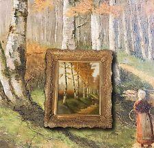 Antico Francese Impressionista Stile Barbizon. Paysage intimo, Monogramma