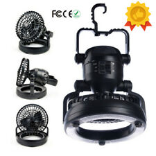 18 Led Camping Lantern Tent Lights & Fan Battery Operated Powered Lamp Outdoor