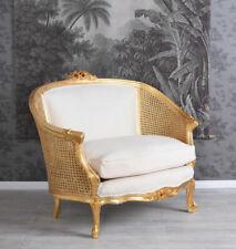Sofa Barock Kanapee Shabby Chic Sessel Vintage Couch Polstersofa Rokoko Bergere