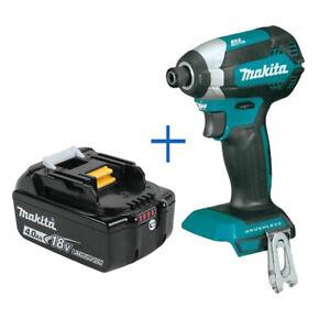 "New Makita XDT13Z 18V 1/4"" Hex Impact Driver w/ BL1840B 18V 4.0Ah Battery"