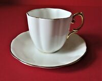 Royal Albert Bone China England Tea Cup And Saucer White With Gold Trim