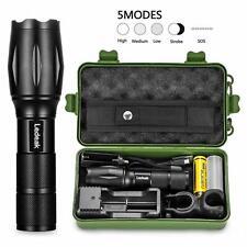 Linterna táctica Policía zoomable  T6 LED + 18650 + cargador