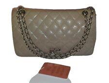 Chanel Verde Caqui Beige 2.55 Reissue Patente Bolso Clásico De Piel De Mantarraya