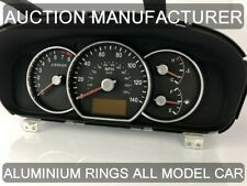 Kia CarensIII 2006-2012 Polished Aluminium Gauge Rings Chrome Trim Surrounds x3