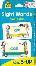 School Zone - Sight Words Flash Cards - Ages 5 and Up, Kindergarten to 1st