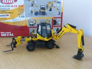 JOAL HAULOTTE MJX 970 WITH FORKS  EXCAVATOR DIECAST RARE MODEL JOAL COLLECTORS
