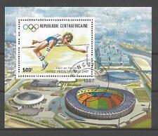 Jeux Olympiques d' été Centrafrique (63) bloc oblitéré