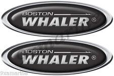 "Boston Whaler Classic Oval Sticker Set. 10"" X 3.5"" each - laminated"