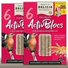 DELICIA 2 x 6 Stück Inno Ganzjahres Garten Vogelfutter | ActivBloc