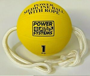 1 KG ( 2.2 LBS) MEDICINE BALL WITH ROPE- Rehab, Therapy, Carpal Tunnel, Exercise