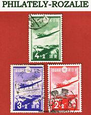 JAPAN STAMPS USED 1937 Mi 233/235 AIRPLANE DC-2  (JAP105)