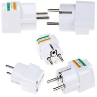 US AU UK to EU AC Power Universal Socket Plug Travel Charger Adapter Converter~