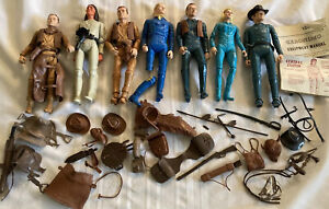 Lot Vintage Marx Johnny West Figures Accessories Jane Geronimo General Custer