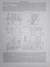 4ft. 6in. Universal Gear Cutting Machine: 1908 Engineering Magazine Print