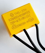 Safety capacitor X2 Y2 250vAC (0.33uF group1) + 2x (2200pF  group 2) –ref:794
