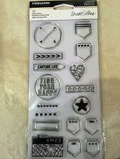Clear Acrylic Stamp Set by Fiskars Stamps Capture Life 106010-1001 NEW