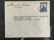 1940 St. Vicente Cape Verde Commercial Cover To Louisville KY USA