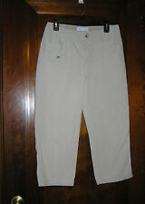 COLUMBIA BEIGE RUGGED OUTDOOR CAMPING 100% COTTON CAPRIS SZ 4 0814