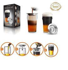 Final Touch: Negro & Tan: conjunto vidrio+filtro para estratificar el la cerveza