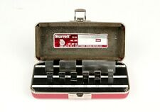 *Starrett Webber Steel Gage Blocks 8-Piece Set .0625 to 2.000