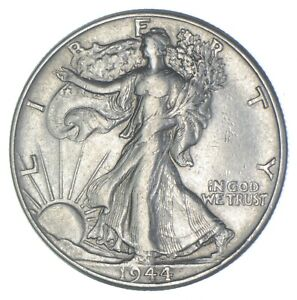 AU/Unc - 1944 Walking Liberty Silver Half Dollar - Better *144