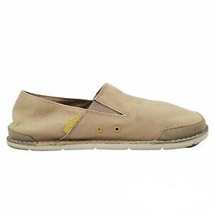 Crocs Cabo Shoes Loafer Canvas Beige Model 14989 Mens Size 13