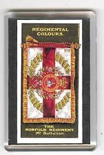 1st Bn NORFOLK REGIMENT REGIMENTAL COLOURS FRIDGE MAGNET