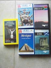 RARE COLLECTOR 5 VHS ECOSSE AFRIQUE DU SUD MEXIQUE no DVD