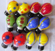 24 Hot Air Balloon Lampwork Glass Beads Buy 2 and get 1 pack for FREE! Shps FREE