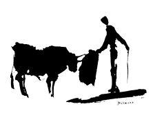 Picasso Bullfight II Matador  print poster 11 x 14