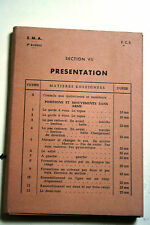 Fiches instruction militaire FCB E.M.A 1950