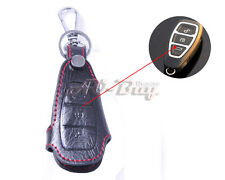 Genuine Leather Remote Key Chain Holder Case Cover Fob for FORD MONDEO
