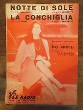 """SPARTITO ANGELI """"NOTTE DI SOLE"""" """"LA CONCHIGLIA"""""""